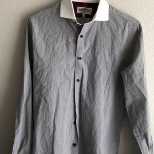 Express collared shirt striped
